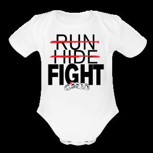 Run Hide Fight Black