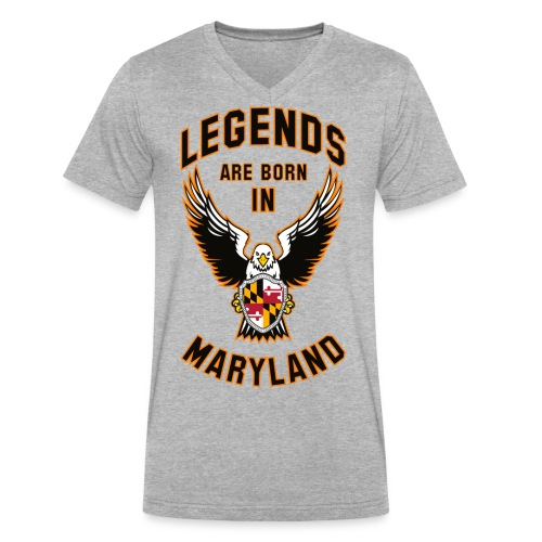 Legends are born in Maryland - Men's V-Neck T-Shirt by Canvas