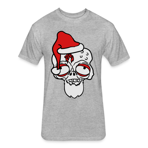 Messed Up Santa - Fitted Cotton/Poly T-Shirt by Next Level