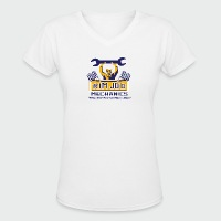 Rim Job Mechanics - Women's V-Neck T-Shirt
