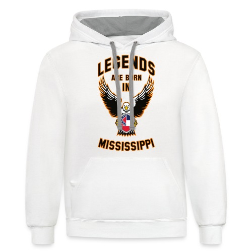 Legends are born in Mississippi - Contrast Hoodie