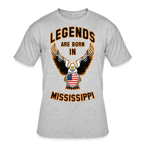 Legends are born in Mississippi - Men's 50/50 T-Shirt