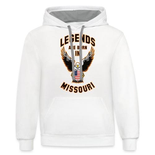 Legends are born in Missouri - Contrast Hoodie