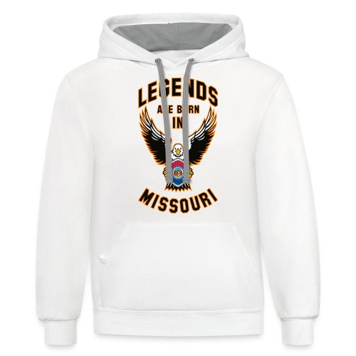 Legends are born in Missouri - Contrast Hoodie