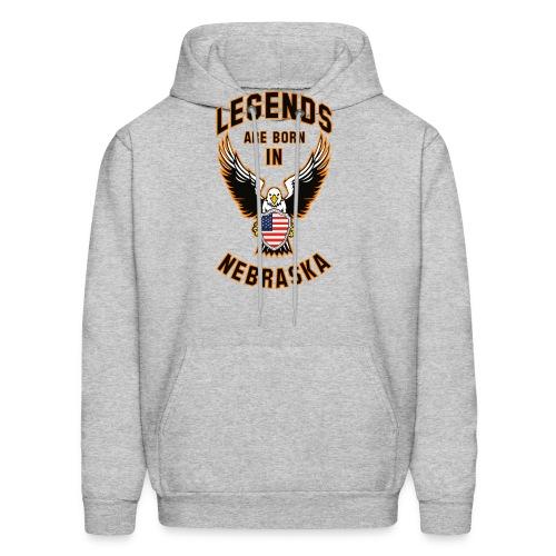 Legends are born in Nebraska - Men's Hoodie