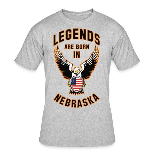 Legends are born in Nebraska - Men's 50/50 T-Shirt