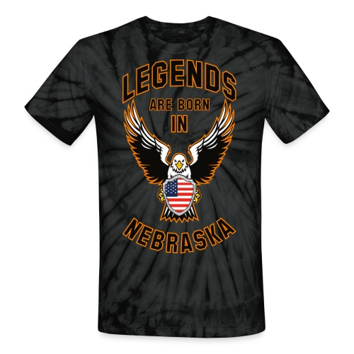 Legends are born in Nebraska - Unisex Tie Dye T-Shirt
