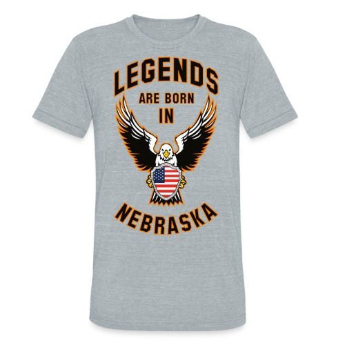 Legends are born in Nebraska - Unisex Tri-Blend T-Shirt