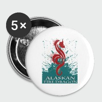 Alaskan Fire Dragon - Small Buttons