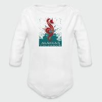 Alaskan Fire Dragon - Long Sleeve Baby Bodysuit