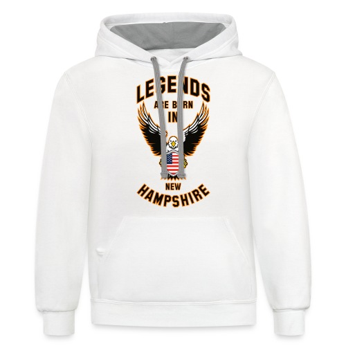 Legends are born in New Hampshire - Contrast Hoodie