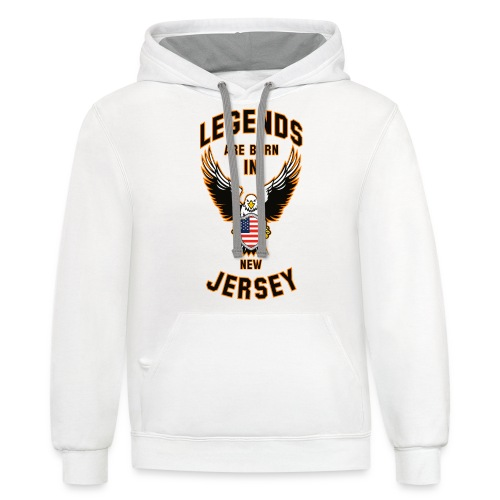 Legends are born in New Jersey - Contrast Hoodie