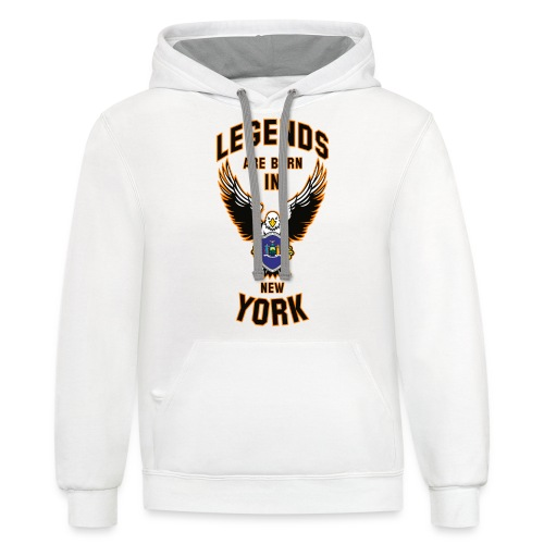 Legends are born in New York - Contrast Hoodie