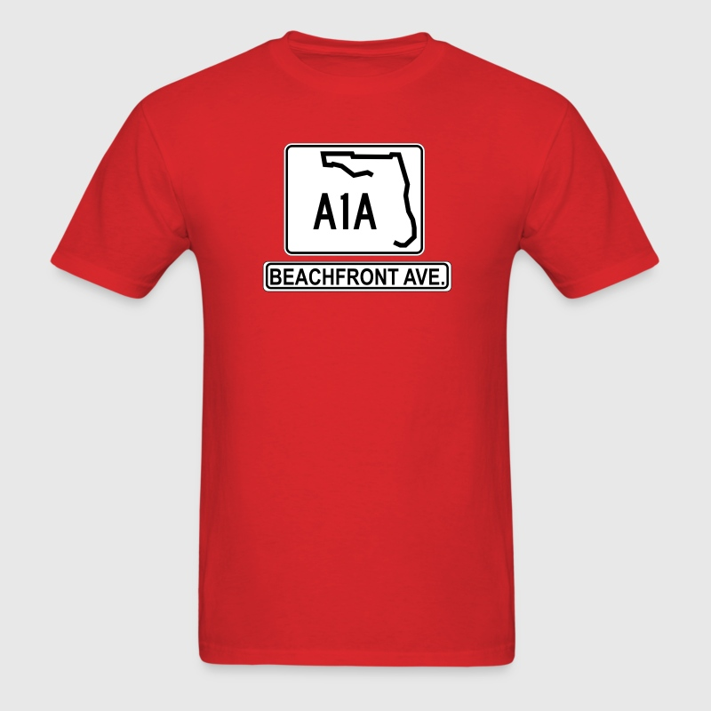 A1A Beachfront Avenue T-Shirts - Men's T-Shirt