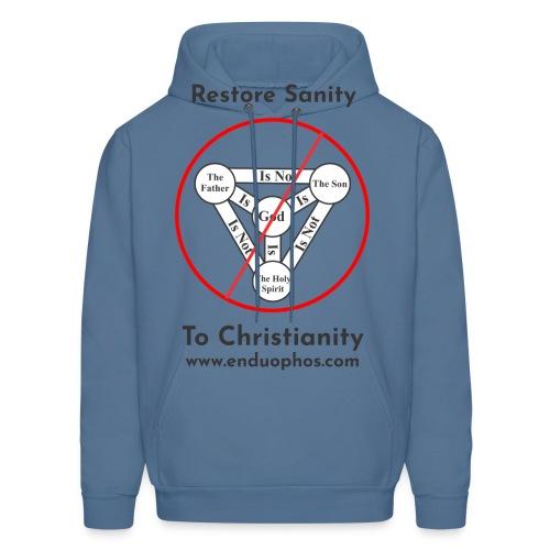 Restore sanity to Christianity - Men's Hoodie