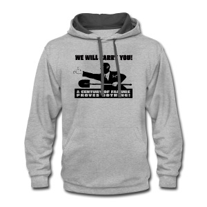 We will Barry You! Obama with shovel - Contrast Hoodie