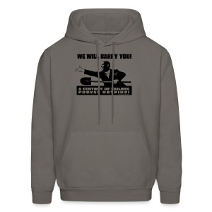 We will Barry You! Obama with shovel - Men's Hoodie