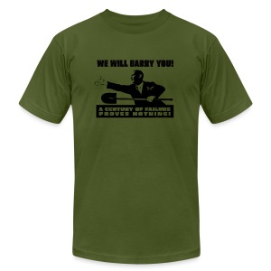 We will Barry You! Obama with shovel - Men's Fine Jersey T-Shirt