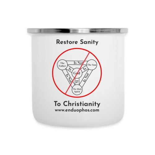 Restore sanity to Christianity - Camper Mug