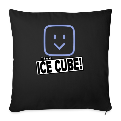 "Team IC! hanger shirt dark - Throw Pillow Cover 18"" x 18"""