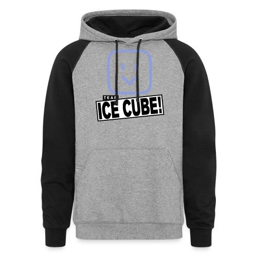Team IC! hanger shirt dark - Colorblock Hoodie