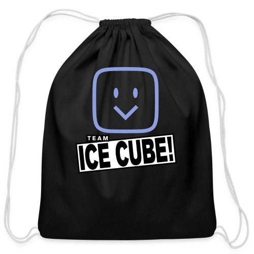 Team IC! hanger shirt dark - Cotton Drawstring Bag