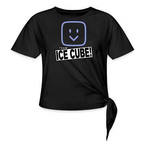 Team IC! hanger shirt dark - Women's Knotted T-Shirt