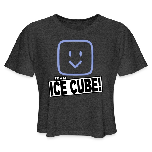 Team IC! hanger shirt dark - Women's Cropped T-Shirt