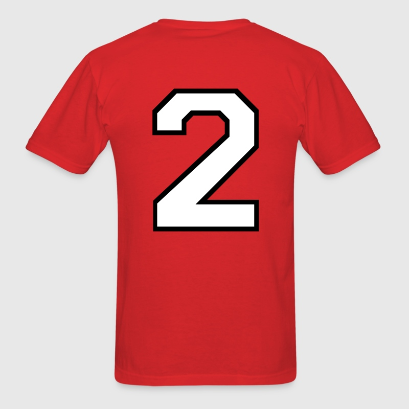 Mens Varsity Number 2 T-Shirt - Men's T-Shirt