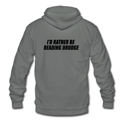 I'd rather be reading Drudge - Unisex Fleece Zip Hoodie