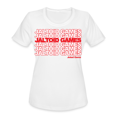 Jaltoid Games - Joted Gems  - Women's Moisture Wicking Performance T-Shirt
