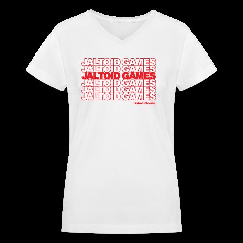 Jaltoid Games - Joted Gems  - Women's V-Neck T-Shirt