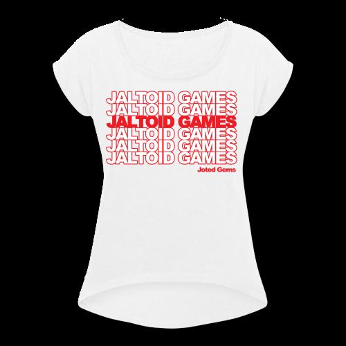 Jaltoid Games - Joted Gems  - Women's Roll Cuff T-Shirt