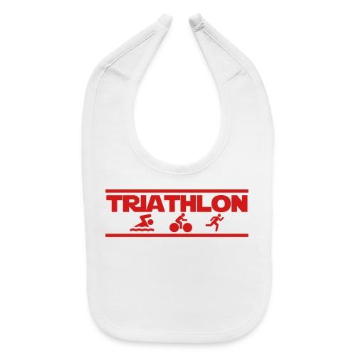 Triathlon swim bike run triathlete training t-shirt - Baby Bib