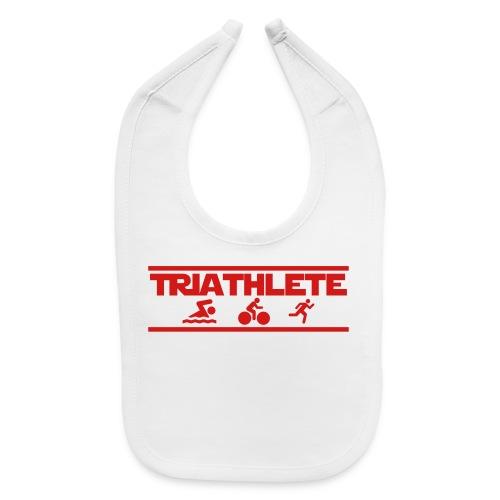 Triathlete swim bike run triathlon training t-shirt - Baby Bib