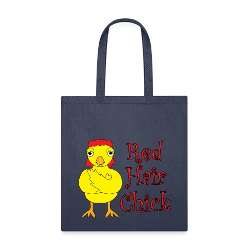 Red Hair Chick Text - Tote Bag