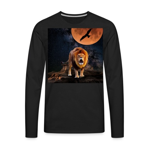 Lion Full Moon Eagle - Men's Premium Long Sleeve T-Shirt