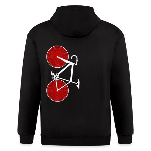 white road bike love hearts shirt - Men's Zip Hoodie