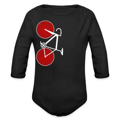 white road bike love hearts shirt - Organic Long Sleeve Baby Bodysuit