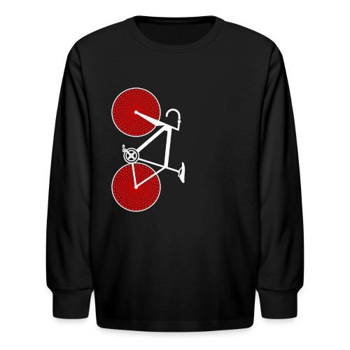 white road bike love hearts shirt - Kids' Long Sleeve T-Shirt