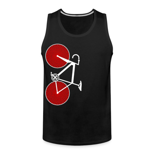 white road bike love hearts shirt - Men's Premium Tank
