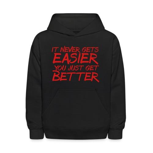 It Never Gets Easier trainer athlete team faith t-shirt - Kids' Hoodie