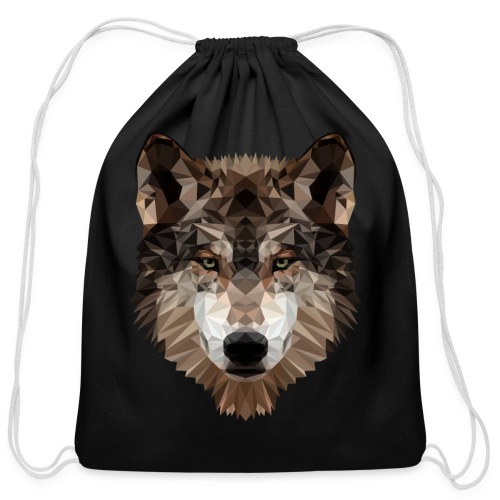 Wolf of Lex Ave - Cotton Drawstring Bag