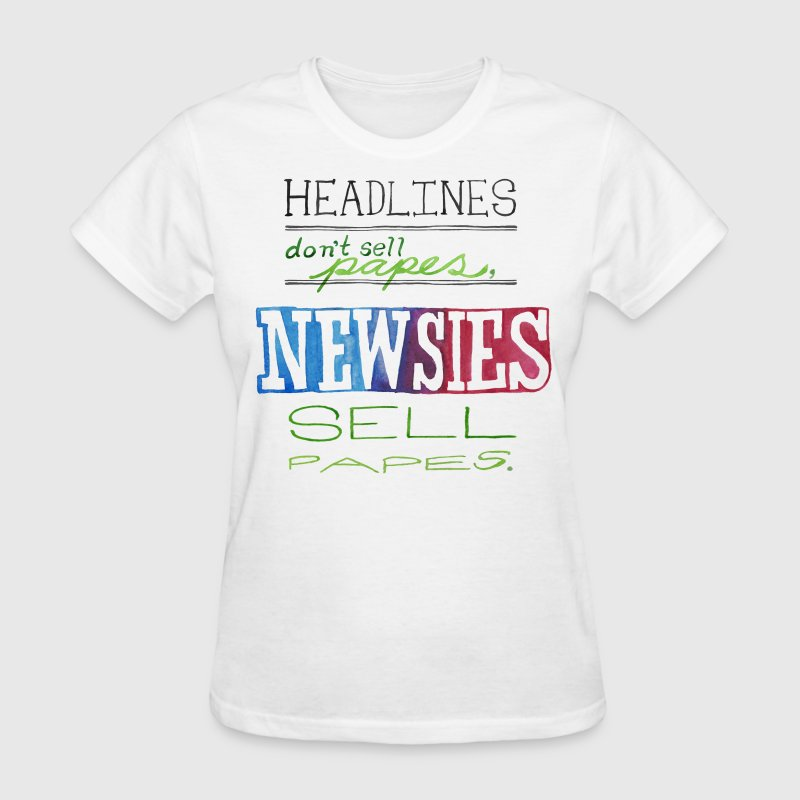 Newsies Sell Papes Women's T-Shirts - Women's T-Shirt