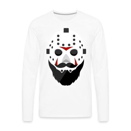Bearded Horror Shirt Alt - Men's Premium Long Sleeve T-Shirt