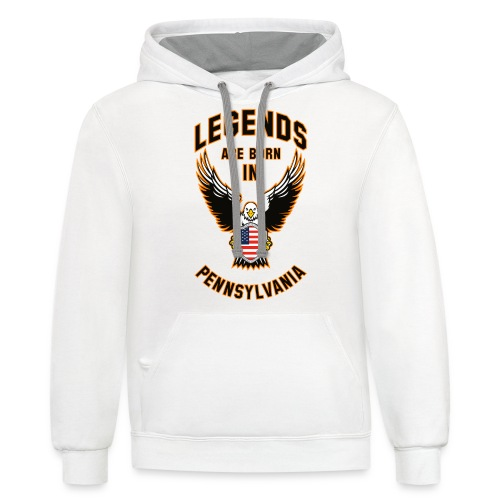 Legends are born in Pennsylvania - Contrast Hoodie