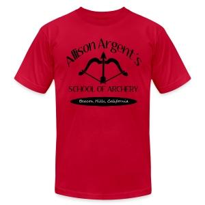Allison Argent's School of Archery (Black Font) - Crew-neck - Men's Fine Jersey T-Shirt