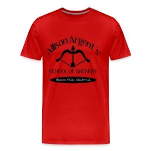 Allison Argent's School of Archery (Black Font) - Crew-neck - Men's Premium T-Shirt
