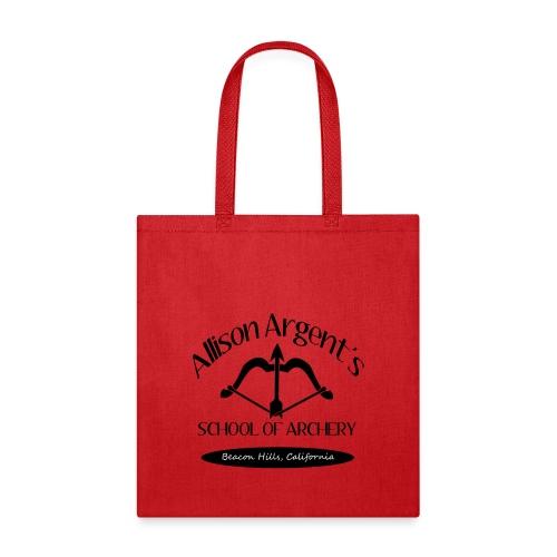 Allison Argent's School of Archery (Black Font) - Crew-neck - Tote Bag