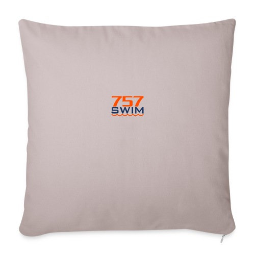 757swim Insulated Water bottle - Throw Pillow Cover
